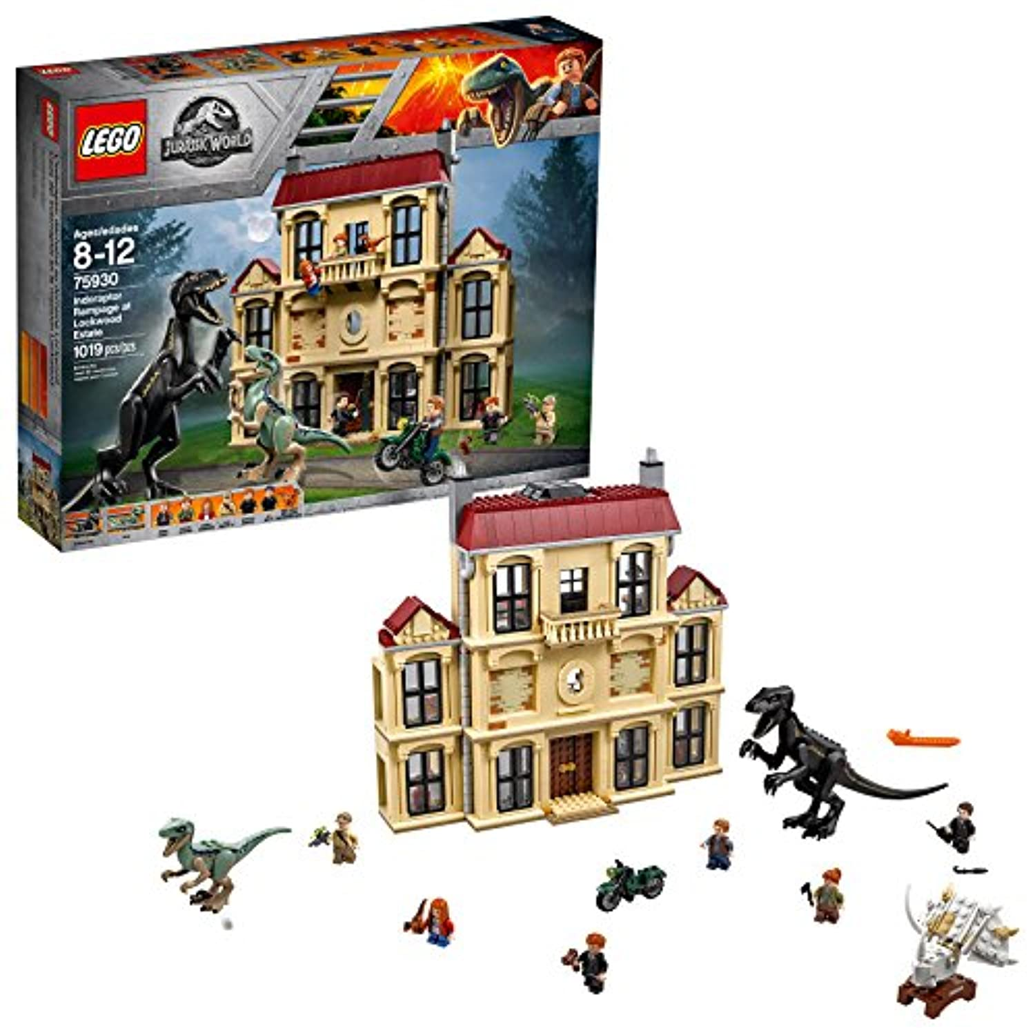 LEGO Jurassic World indoraptor Rampage atロックウッドEstate 75930建物キット1019 Pieces
