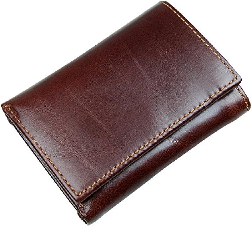 手つかずの磁石フレアVocni(ワクニー)財布 メンズ 三つ折り 本革 牛革 レザー ウォレット RFIDブロッキング 多機能