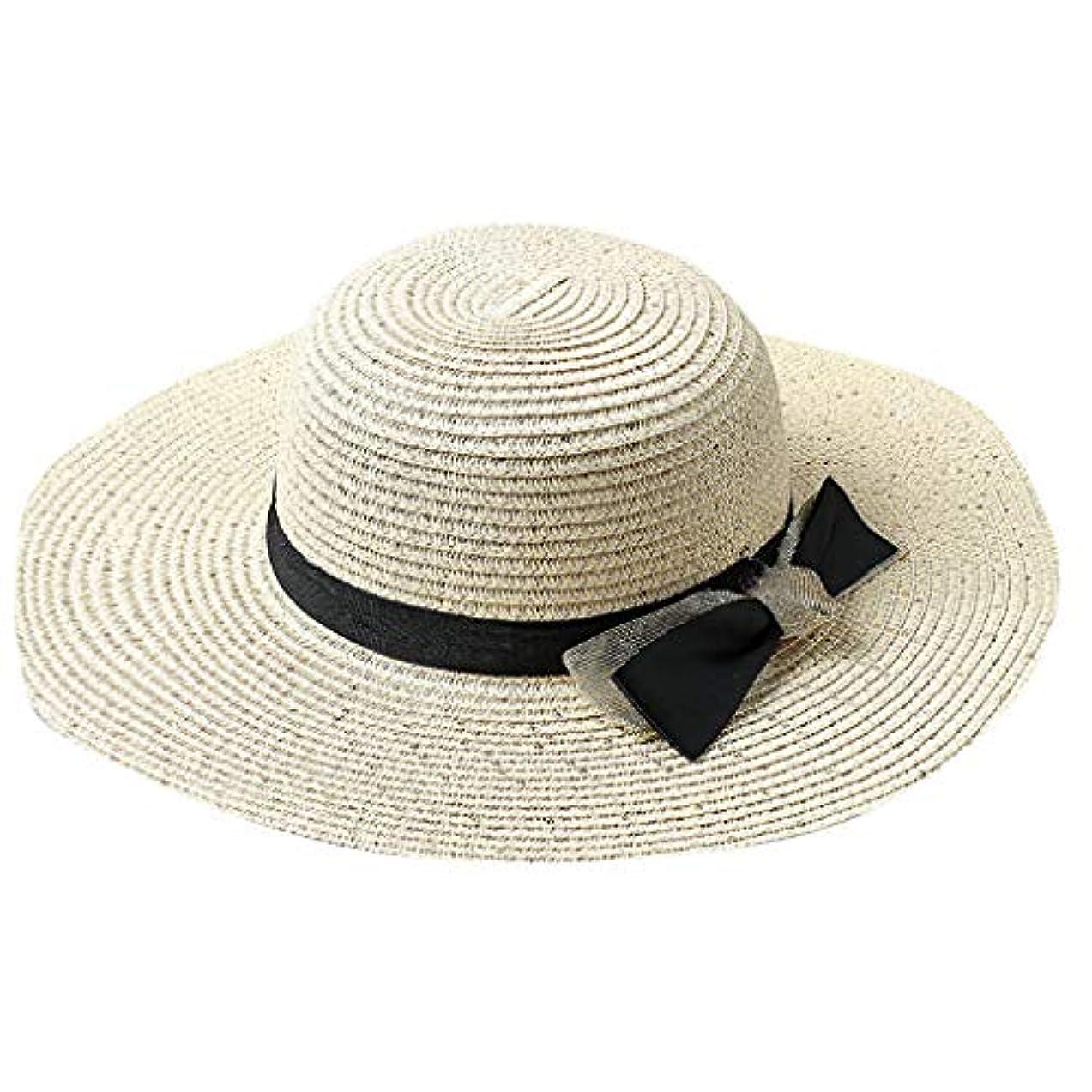 伸ばす概してハシーROSE ROMAN - 日よけ帽子 帽子 レディース ハット UVカート 紫外線対策 麦わら帽子 レディース 春夏 UVカット 折りたたみ 軽量 持ち運びに便利 麦わら帽子 つば広 小顔効果 春夏 お出かけ用 ビーチハット