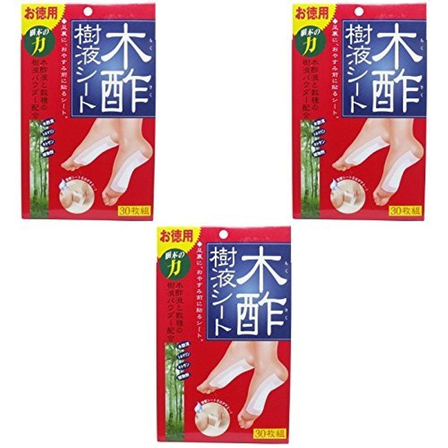 暴徒寺院大臣【まとめ買い】コジット 木酢樹液シート 30枚組【×3個】