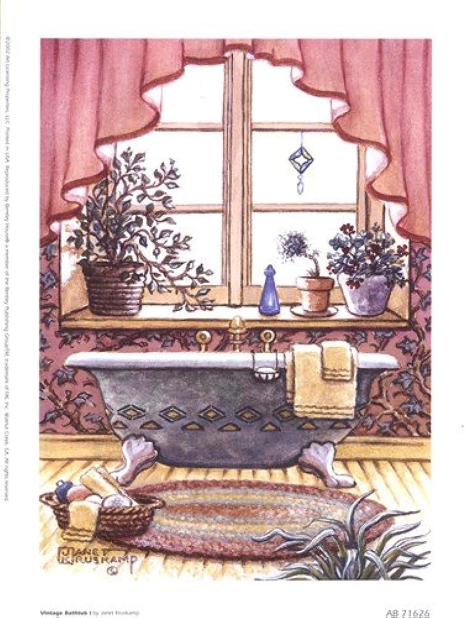 病者左愛撫ヴィンテージ浴槽L by Janet Kruskamp – 6 x 8インチ – アートプリントポスター LE_66686