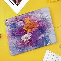 iPad Pro 10.5 ケース 軽量 薄型 スタンド オートスリープ機能 PUレザー 傷つき防止 二つ折タイプスマートカバー iPad 10.5インチ(モデル番号A1701 A1709)2017版専用ローズデイジーとガーベラの花印象派のブーケ