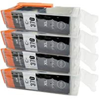 BCI370BK 4個セット 互換インク キャノン BCI-370XLBK Canon ブラック 黒 一年保証付 プリンター保証付 ICチップ付
