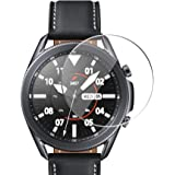 Miitech Samsung Galaxy Watch 3 45 mm ガラスフィルム (2枚入り) 2.5D 液晶保護 硬度9H 超薄 耐衝撃 撥油性 超耐久 耐指紋 飛散防止処理 Samsung Galaxy Watch 3 45 mm 対応