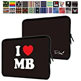 MS factory タブレット インナーケース 7 - 8 インチ iPad mini2 mini3 mini4 スリーブ ケース 撥水 ネオプレーン インナー バッグ 保護 ソフト カバー RMC series I LOVE MacBook ブラック RMC-NEODGN7ILMBBK