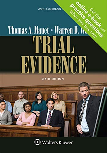 Download Trial Evidence (Aspen Coursebook) 1454870028