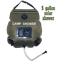 HelloPretty B 水袋 水分補給 給水 ソーラー 温水袋 環境保護 取り外し可能 アウトドア 折りたたみ 壁掛け式 太陽光シャワー袋 電気不要 防災