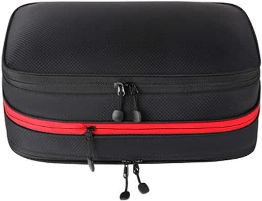 圧縮バッグ 圧縮トラベルポーチ 衣類圧縮バッグ トラベルバッグ 収納バッグ 衣類仕分け ファスナー圧縮で衣類スペース50%節約 防水 軽量 旅行用 出張圧縮バッグ 17L (ブラック)