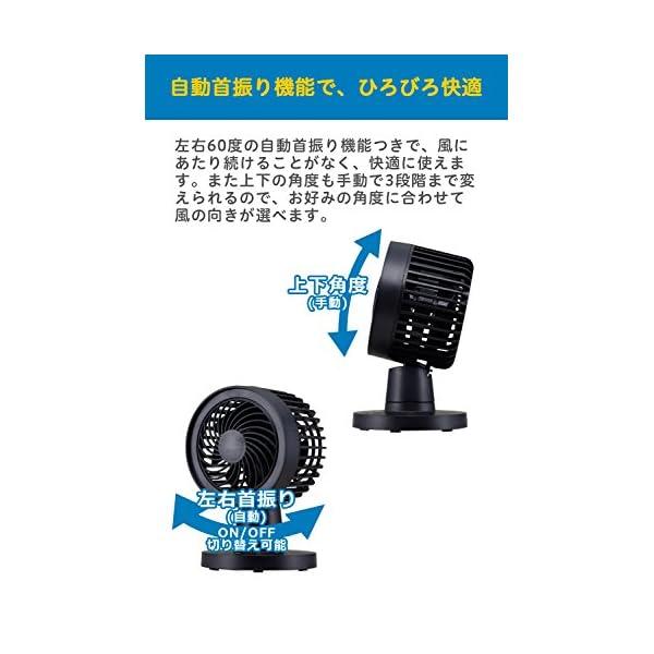siroca 卓上扇風機 SDF-129 ジェ...の紹介画像4