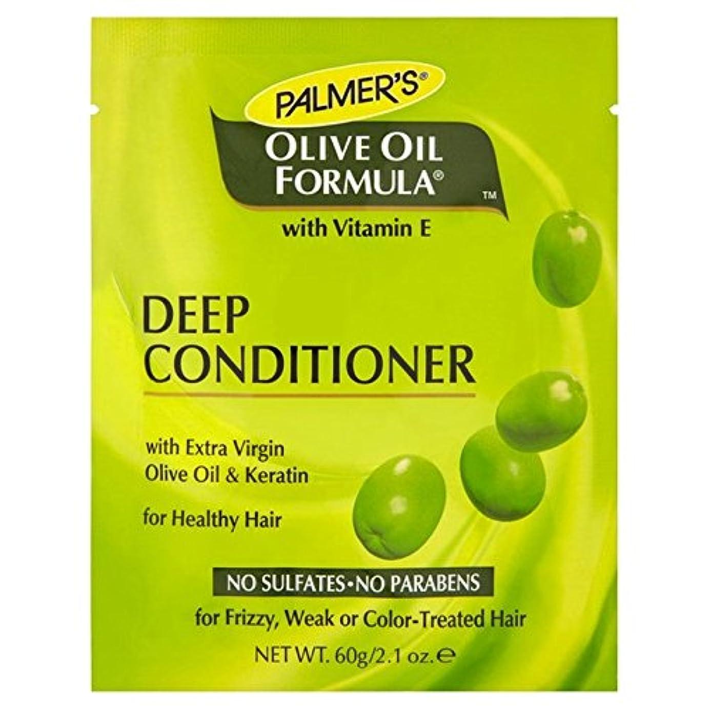 静めるラブ青写真パーマーのオリーブオイル式深いコンディショナータンパク質パック60グラム x4 - Palmer's Olive Oil Formula Deep Conditioner Protein Pack 60g (Pack of...