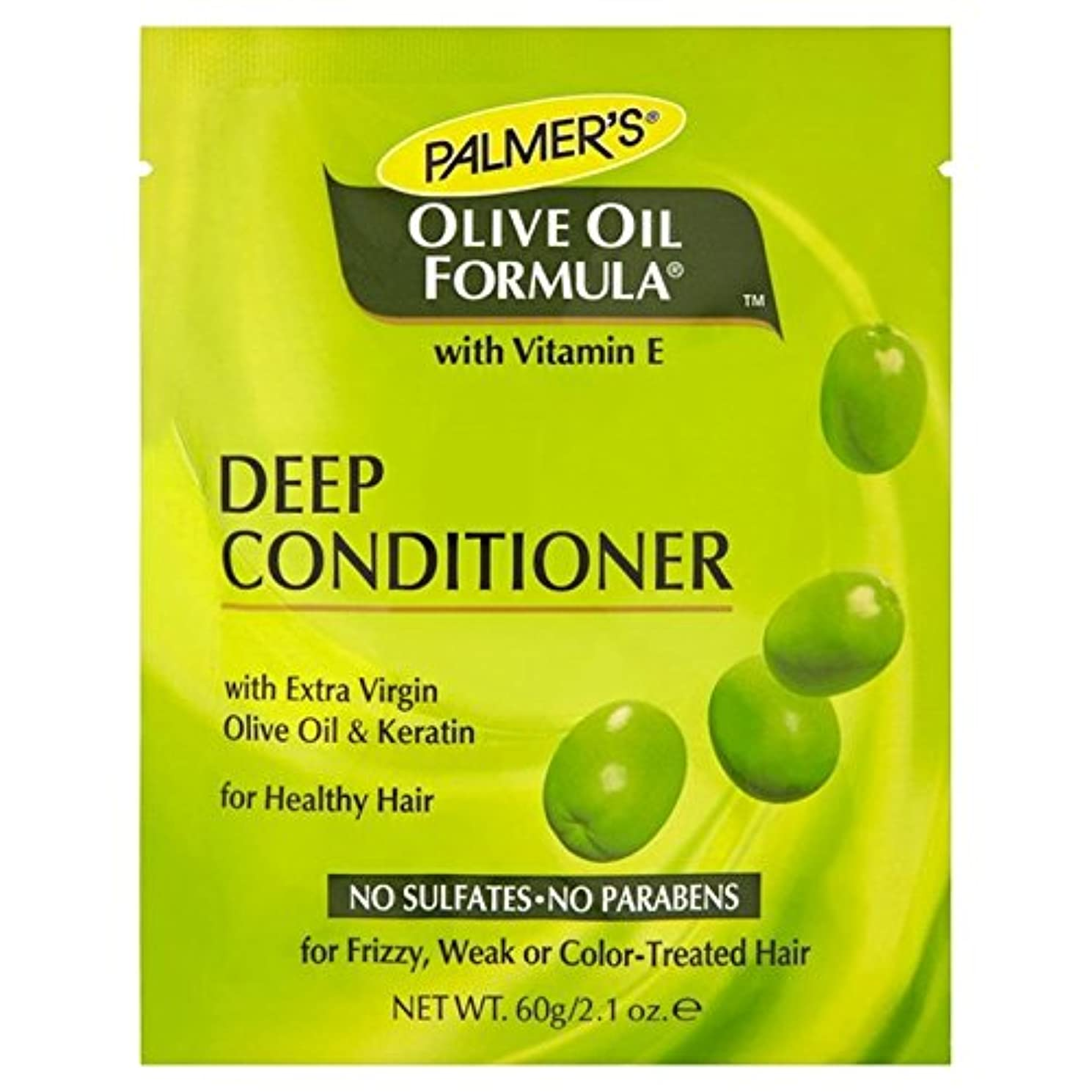 人間シャープ知覚Palmer's Olive Oil Formula Deep Conditioner Protein Pack 60g (Pack of 6) - パーマーのオリーブオイル式深いコンディショナータンパク質パック60グラム...