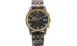 [アバテルノ]AB AETERNO 腕時計 CHRONO COLLECTION ウッド NITOR 42mm 9825055 メンズ 【正規輸入品】