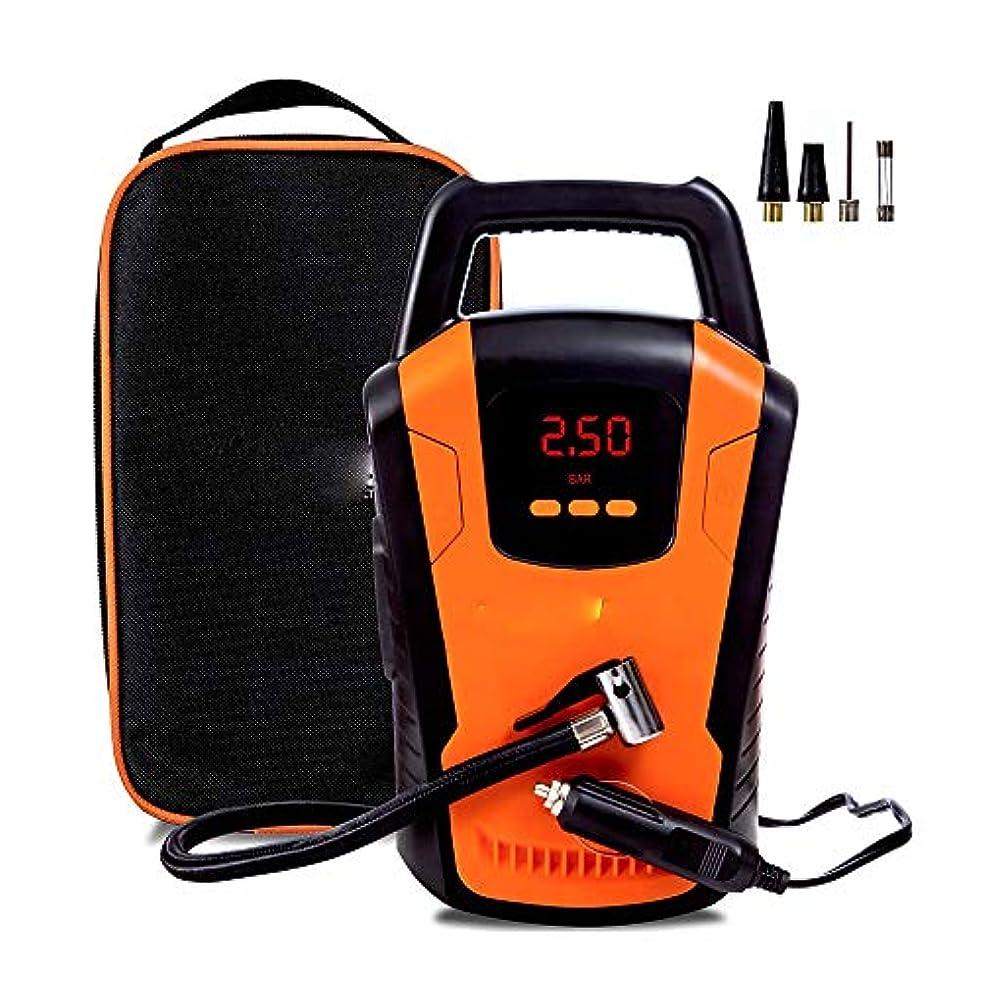 ゆるくポーン振動する大型ディスプレイデジタル12V 101-150Psiと車の空気コンプレッサータイヤインフレータ