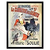 Cheret Radical Newspaper Novel Book Advert Art Print Framed Poster Wall Decor 12x16 inch 本広告ポスター壁デコ