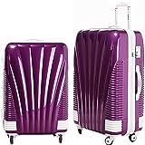 [BB-Monsters] スーツケース 旅行カバン キャリーバッグ 超軽量 TSAロック搭載 朱雀 (中型、MS、22, パープル)