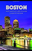Boston Note Monthly 2020 Planner 12 Month Calendar
