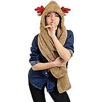 Animal Hat Hood Faux Fur - Anime Fashion Scarves Winter Warm Gloves & Mittens Soft Headscarf Neckwarmer Stuffed Animal Hat