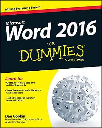 amazon co jp word 2016 for dummies english edition 電子書籍 dan
