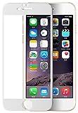 OHAGI アイフォン iPhone 6 6s プラス plus ガラスフィルム 全面 保護 フィルム カーボン ファイバー フレーム (6plus / 6splus, ホワイト)