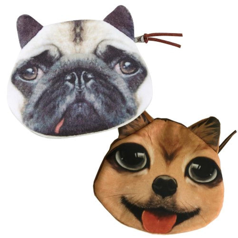 【単品/種類指定不可品】ワンちゃんミニポーチ  犬 ドッグ アニマル 動物 財布 コインケース コスメティックケース