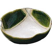 山下工芸(Yamasita craft) 織部 格子三ツ押刺身鉢 14.8×15.3×5.5cm 11023010