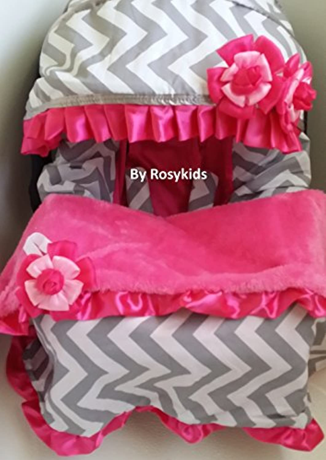 Infant Carseat Canopy Cover Blanket 4 Pc Whole Caboodle Baby Car Seat Cover Kit C030201 by Rosy Kids