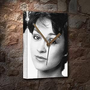 JANET FIELDING / 守備JANET - キャンバスクロック(A5 - アーティストによって署名されました) #js003