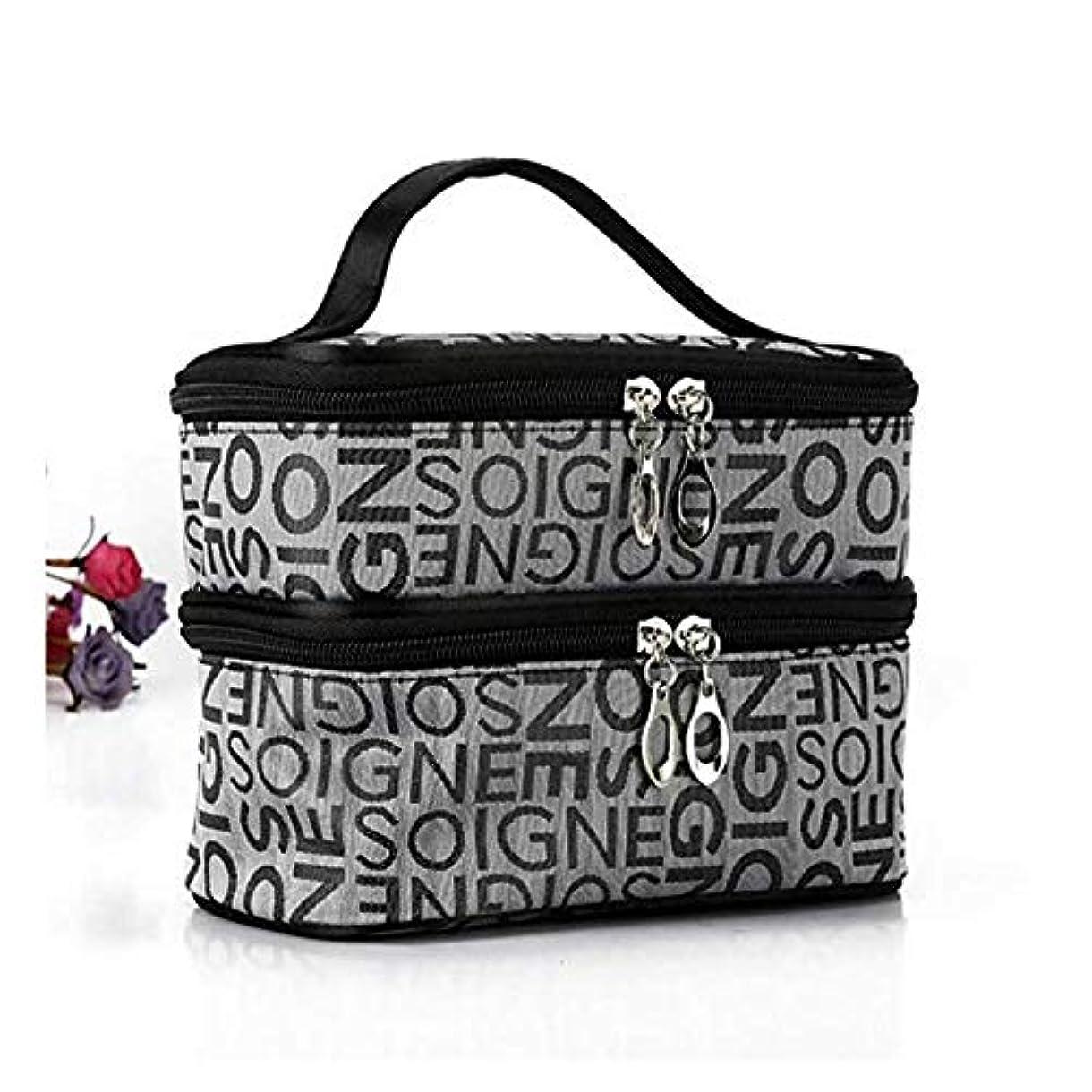 資源大臣警報ポータブル旅行ダブルワード印刷化粧品化粧品袋収納多機能包装 (2#)