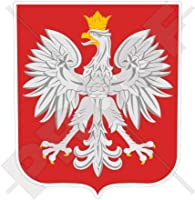 "POLAND Polish Coat of Arms Badge Crest POLSKA 94mm (3.7"") Vinyl Bumper Sticker, Decal"