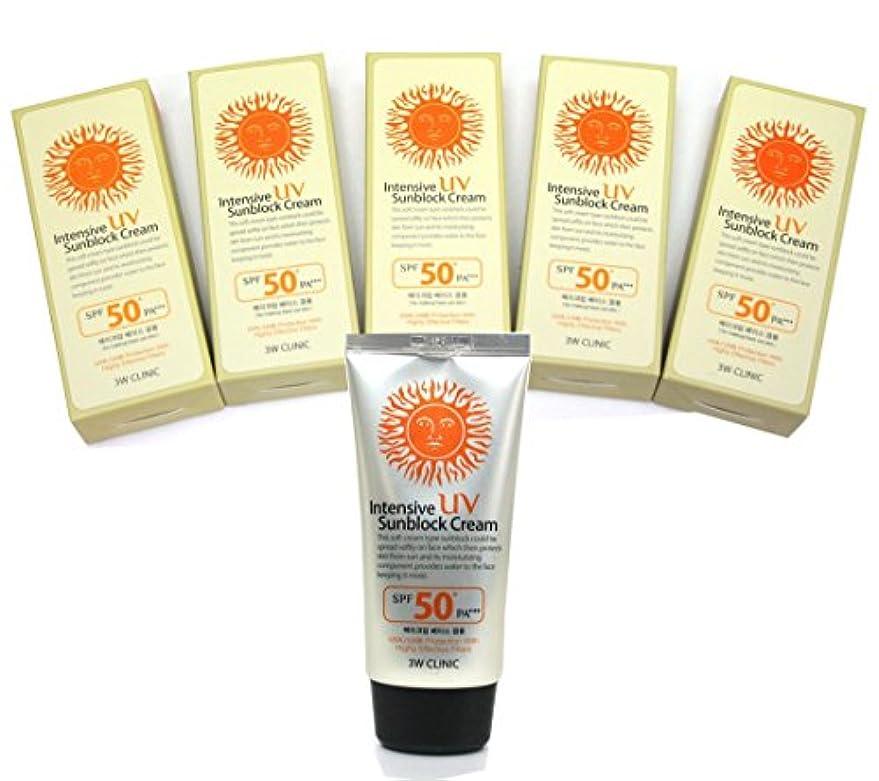 グリット溶岩強盗[DODO 3w Clinic] インテンシブUV日焼け止めクリームSPF50 PA+++ 70ml * 5ea / Intensive Uv Sunblock Cream SPF50 PA+++ 70ml * 5ea...