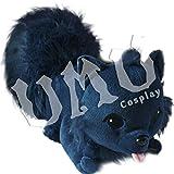 【UMU】 DRAMAtical Murder ドラマティカル マーダー 瀬良垣 蒼葉(せらがき あおば) 蓮 オールメイト いぬ 黒 犬 約45cm 風 ぬいぐるみ コスプレ道具 おもちゃ 抱き枕