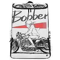 MIMUTI リュックサック かわいい女の子乗馬オートバイ冬 大容量 バックパック 靴/弁当収納ポケット付き アウトドア旅行 通勤 通学