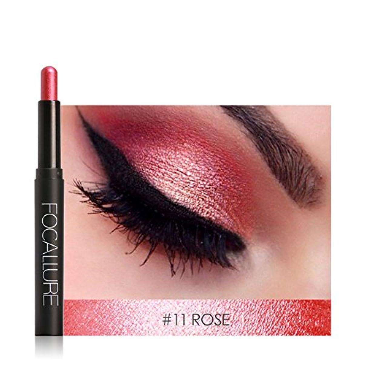 犯罪パキスタン熱帯のアイシャドウペン、12色アイシャドウペン横たわっているカイコアイライナースティック化粧品化粧品(#11)