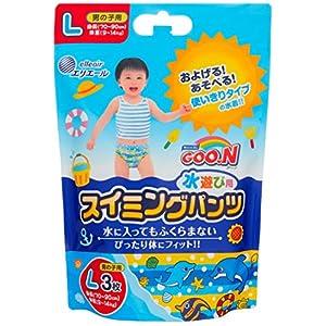 グーン スイミングパンツ L (9~14kg) 男の子用 36枚(3枚×12) 【ケース販売】