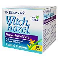 海外直送肘 Witch Hazel Hemorrhoidal Pads, 100 Ct