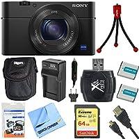 Sony dsc-rx100m4dsc-rx100m4/ B dsc-rx100miv rx100m4rx100miv - Shot l20.1MPカメラバンドルIncludesカメラ、64GB SDXCメモリカード、キャリーケース、ミニ三脚、2、バッテリー充電器and More