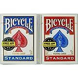マジックに最適!トランプの王様「BICYCLE バイスクル ライダーバック808 ポーカーサイズ」人気のレッド&ブルーを…