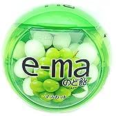 味覚糖    e-maのど飴容器 マスカット  33Gヨウキ×6袋