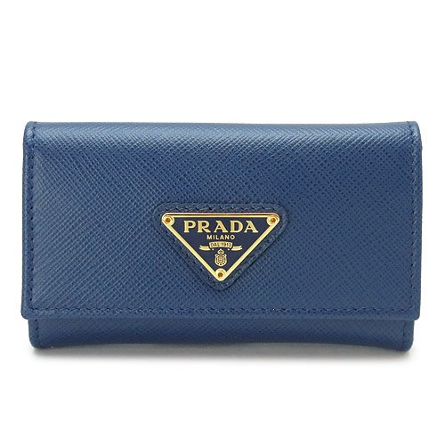 (プラダ)PRADA キーケース 1PG222 QHH F0016/SAFFIANO TRIANG BLUETTE PRADA 6連フック サフィアーノトライアングル 三角ロゴプレート レザー ブリエッタ[並行輸入品]