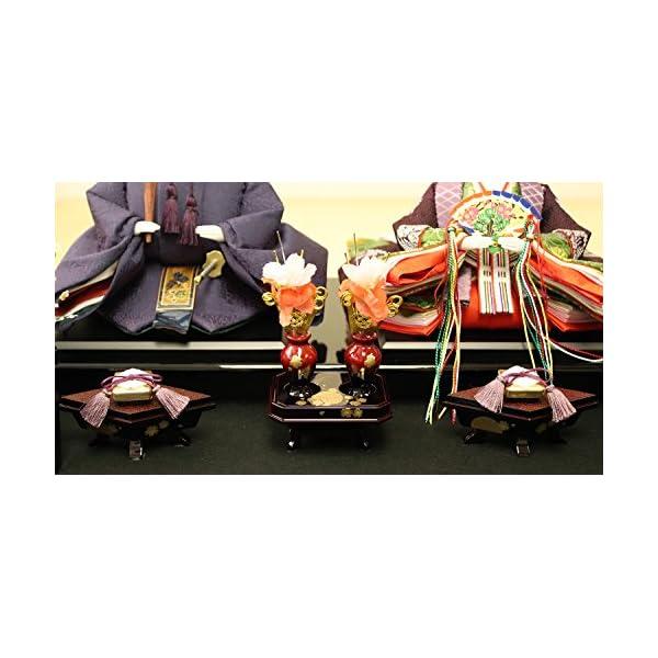 雛人形 ケース入り親王飾り 春日雛 加賀蒔絵...の紹介画像12