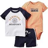 カーターズ Carter's ボディスーツ + tシャツ + パンツ 豪華3点セット 3-Piece Bodysuit & Shorts Set 9M (67-72cm)