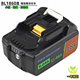 BL1860Bマキタ18v バッテリー 6.0AH マキタ電動工具互換バッテリー BL1830 BL1840 BL1850bl1860 対応 リチウムイオンバッテリー サムスンセル搭載 安心の1年保証 黒 Moticett