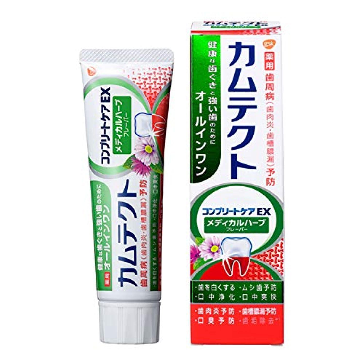 ワイド信条やろう[医薬部外品] カムテクト コンプリートケアEX メディカルハーブフレーバー 歯磨き粉 105g 1個