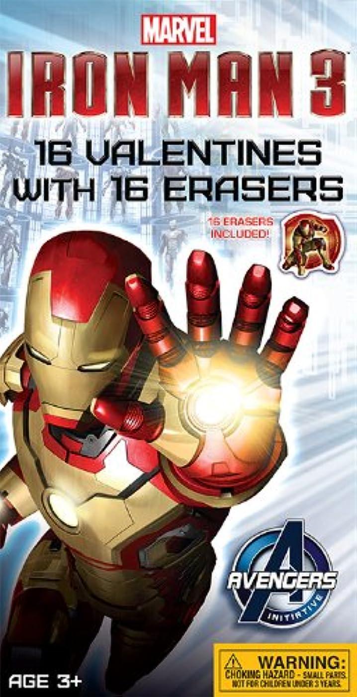 限界引退した代替Paper Magic Ironman 3 Valentine Exchangeカードwithボーナス消しゴム( 16 Count )