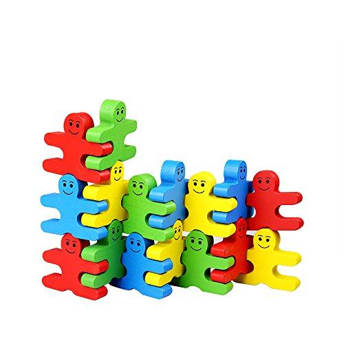 Yapeer バランスゲーム 積み木 木製 ボードゲーム ブロック 立体パズル