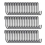 winkong S字フック ステンレス 60個入り ブラック キッチン用具/クローゼット/金属道具収納 キッチン 浴室 お風呂