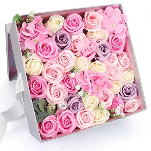Yobansa ソープフラワー 創意方形ギフトボックス 造花...