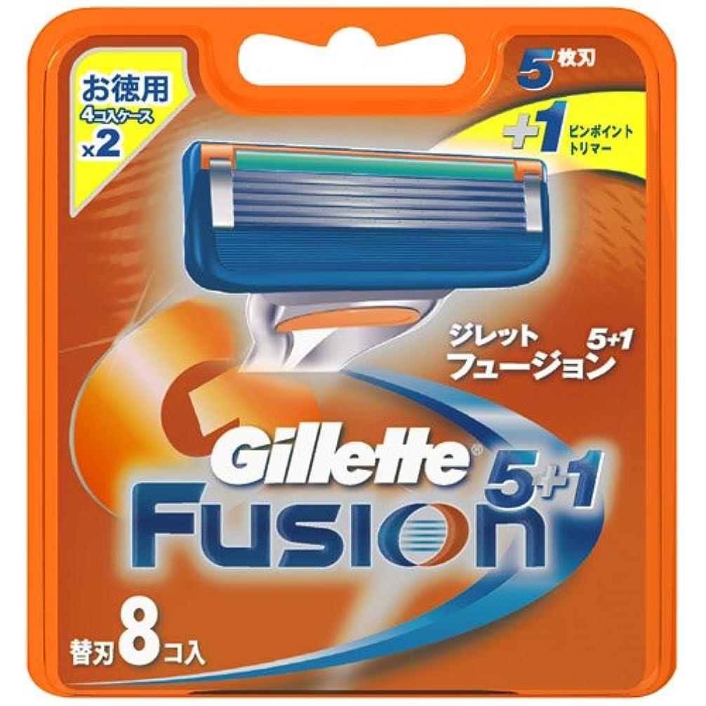 フットボール五十下にジレット フュージョン5+1 専用替刃 8B