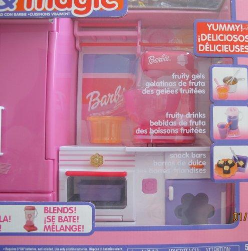 バービーMix & Magic Real Food Kitchen 30PiecesプレイセットW Workingミキサーライト、& More ( 2003マテルCanada )