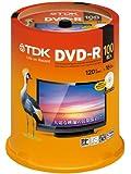 TDK 録画用DVD-R デジタル放送録画対応(CPRM) 1-16倍速対応 パールカラーディスク 100枚スピンドル DR120DALC100PUE